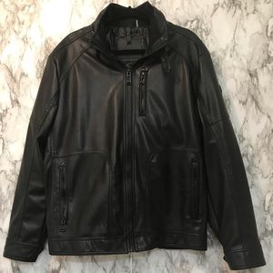 Calvin Klein | Leather Biker Jacket (L)